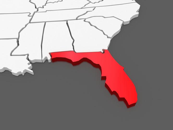 3d florida map